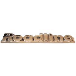 Roadline stamp logo emblem Aixam the rear flap