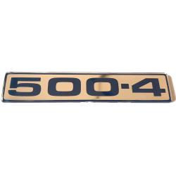 Emblem Aixam inscription on the tail flap 500.4